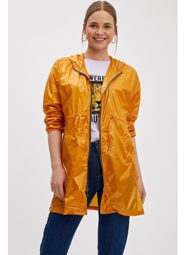 DeFacto Kapüşonlu Yağmurluk Sarı